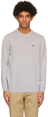 Lacoste Grey Cotton Crewneck Sweater