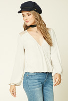 Forever 21 FOREVER 21+ Surplice High-Low Top