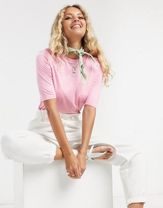 Vero Moda skinny knitted t-shirt in pink