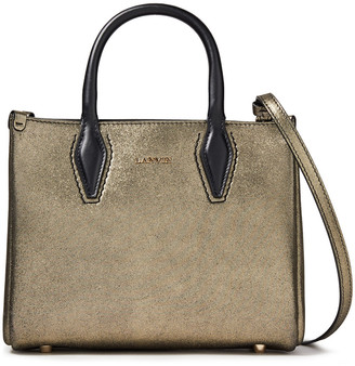 Lanvin Nano Journee Metallic Leather Tote
