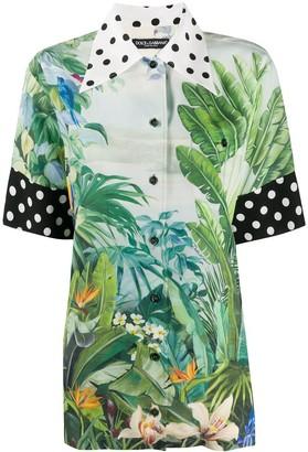 Dolce & Gabbana Oversized Tropical Print Shirt