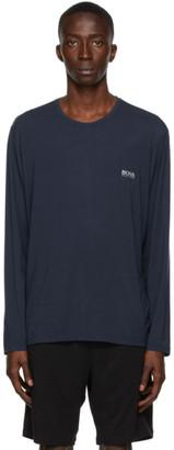 HUGO BOSS Navy Comfort Long Sleeve T-Shirt