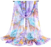 Cityelf Silk Patterned Soft Wrap Shawl Fashion 62x19 Scarf WJW0011