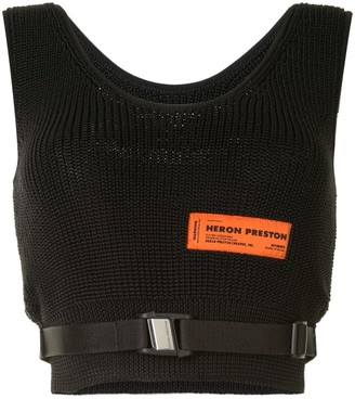 Heron Preston Knitted Crop Top