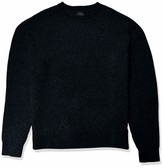A|X Armani Exchange Men's Crew Neck Pullover with Interlacing Lines