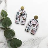 Mica Peet Statement Terrazzo Arc Drop Earrings