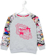 Kenzo logo print sweatshirt - kids - Cotton - 3 yrs
