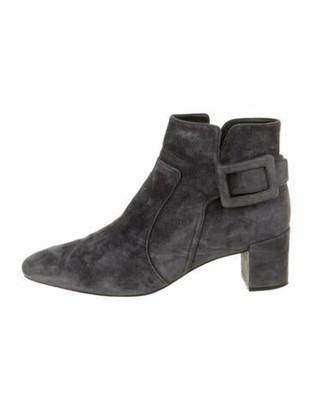 Roger Vivier Suede Boots Grey