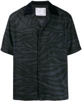 Sacai short sleeve animal-print shirt
