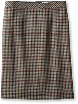 L.L. Bean Eastport Wool Skirt, Houndstooth