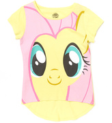 Jerry Leigh Mellow Yellow My Little Pony Fluttershy Big Face Tee - Kids & Tween