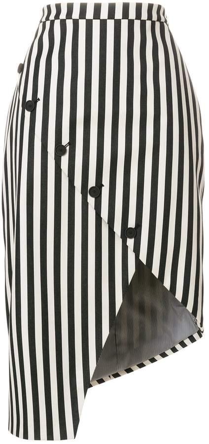 Altuzarra Paul Bert Asymmetric Stripe Skirt
