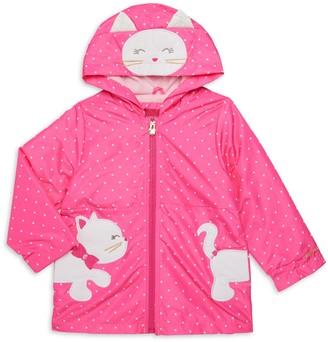 London Fog Baby Girl's 3D Kitty Raincoat