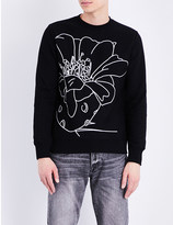Paul Smith Flower-embroidered cotton sweatshirt