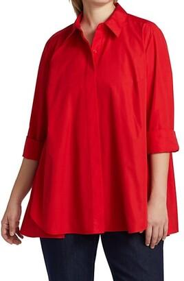 Lafayette 148 New York, Plus Size Carolyn High-Low Shirt