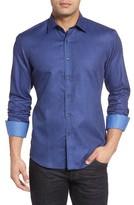 Bugatchi Men's Shaped Fit Sport Shirt