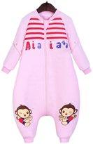Aivtalk Newborn Baby Sleeping Bag Winter Bamboo Zippered Windproof Pink Bear Toddlers Infant Sleep Sack