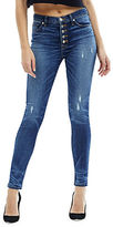 Hudson Ciara High-Rise Button Fly Skinny Jeans