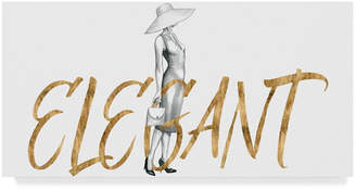 "Grace Popp Gilded Fashion Figures Iii Canvas Art - 37"" x 49"""