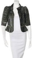 Fendi Silk-Blend Tweed Jacket w/ Tags