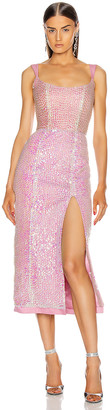 MARKARIAN for FWRD Ginevra Sequin Dress in Fuchsia   FWRD