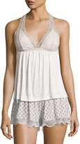 Eberjey Georgette Lace-Trimmed Cami, Multi