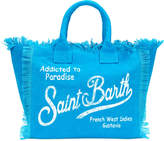Mc2 Saint Barth Kids logo print denim beach bag