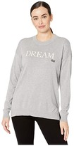 Lauren Ralph Lauren Dream Cotton-Blend Sweater (Pearl Grey Heather/Mascarpone Cream) Women's Clothing