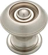Martha Stewart 1-3/16 Bedford Nickel Button Round Cabinet Knob - P20631c-475-cp