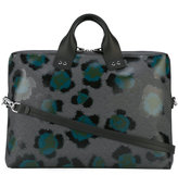 Kenzo printed laptop bag - unisex - Leather - One Size