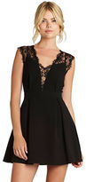 BCBGeneration Lace-Inset A-Line Dress