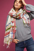Anthropologie Border-Striped Scarf