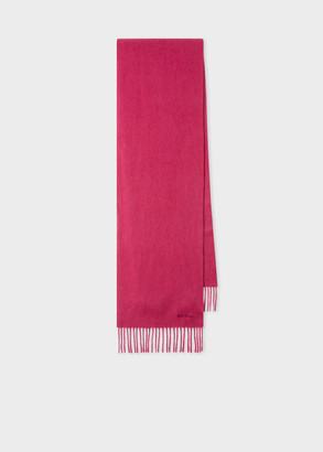 Paul Smith Raspberry Pink Cashmere Scarf