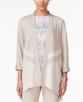 Alfred Dunner Acadia Collection Striped Cardigan