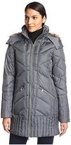 Sam Edelman Women's Kate Puffer with Faux Fur