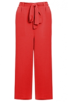 Quiz Burnt Orange Tie Waist Culotte Trousers