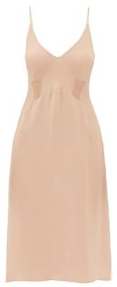 Araks Cadel Silk-georgette Slip Dress - Womens - Beige