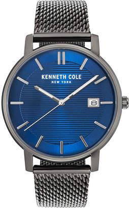 Kenneth Cole New York Men Gun Metal Mesh Bracelet Watch 42mm
