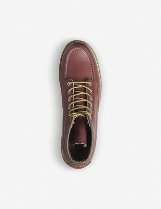 Red Wing Shoes Moc Toe leather platform ankle boots