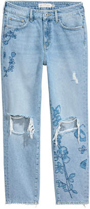 H&M Straight Regular Ankle Jeans