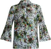 Erdem Alita ruffle-cuff silk-crepe blouse