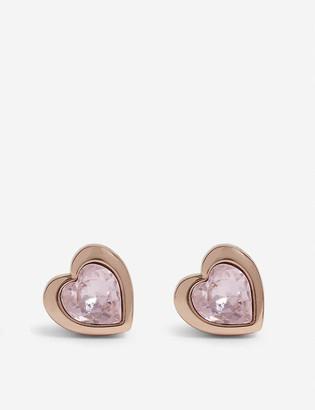 Ted Baker Han crystal heart stud earrings