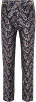 Gucci Blue Paisley Jacquard Tuxedo Trousers
