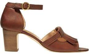Rupert Sanderson Fringed Leather Sandals