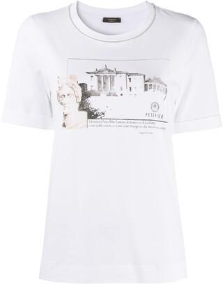 Peserico logo detail print T-shirt