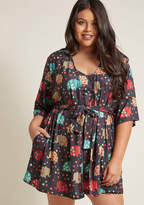 ModCloth Lively Lounging Robe in Elephant in S, M