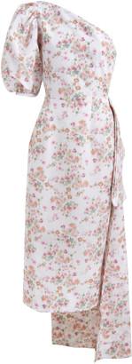 MARKARIAN Laurel One-Shoulder Ikat Cady Dress