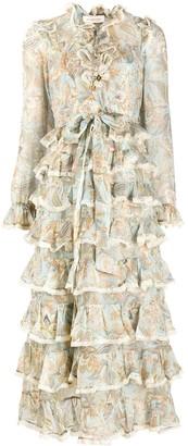 Zimmermann Tiered Frill Midi Dress