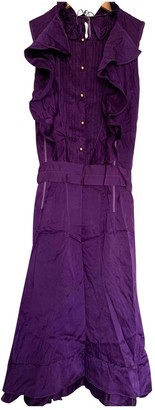 Mulberry Purple Silk Dress for Women
