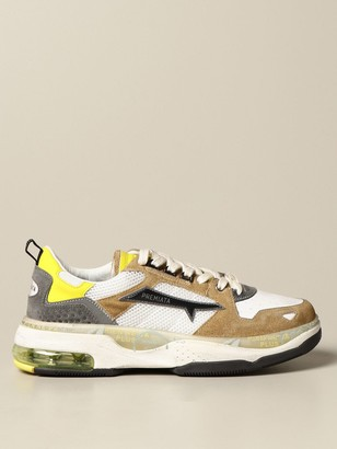 Premiata Drake Sneakers In Suede And Mesh